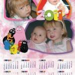 Calendario tutto rosa