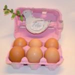 Il porta uova di Pasqua con la Colomba