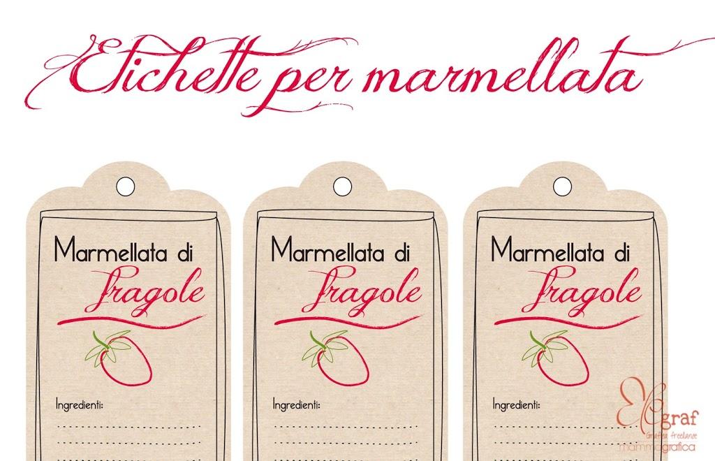 Popolare Etichette scaricabili per la marmellata di fragole   Elegraf  TG92