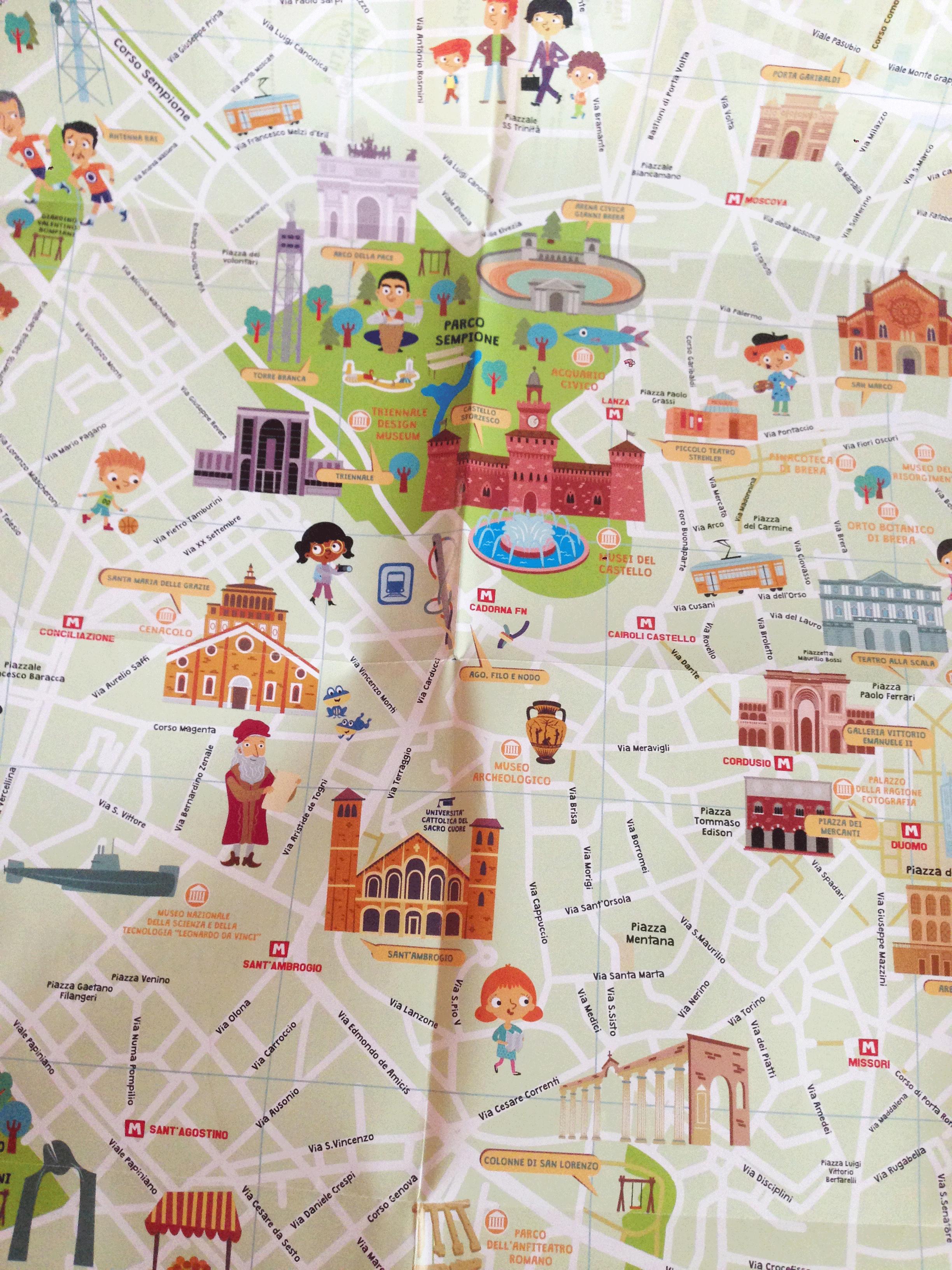 Cartina Di Milano Per Bambini.Italy For Kids Le Mappe Per I Bambini Elegraf