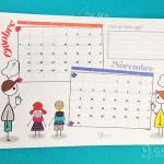 Calendario scolastico stampabile