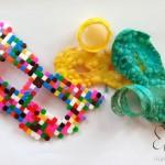 Mascherina di carnevale con le perline Ikea Pyssla