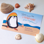 Party kit compleanno Pinguini al mare